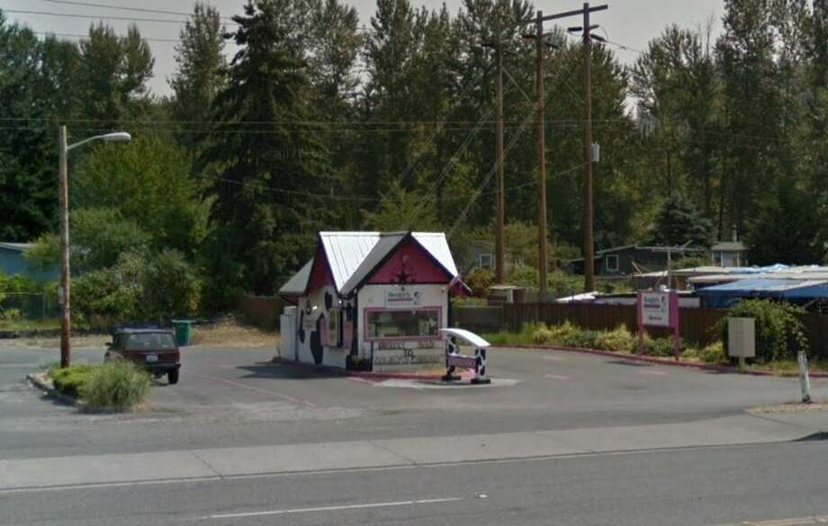 Police from the southern King County town of Pacific arrested two men  early Monday morning who allegedly confessed to setting fire to a  bikini barista stand. Photo: Google Maps
