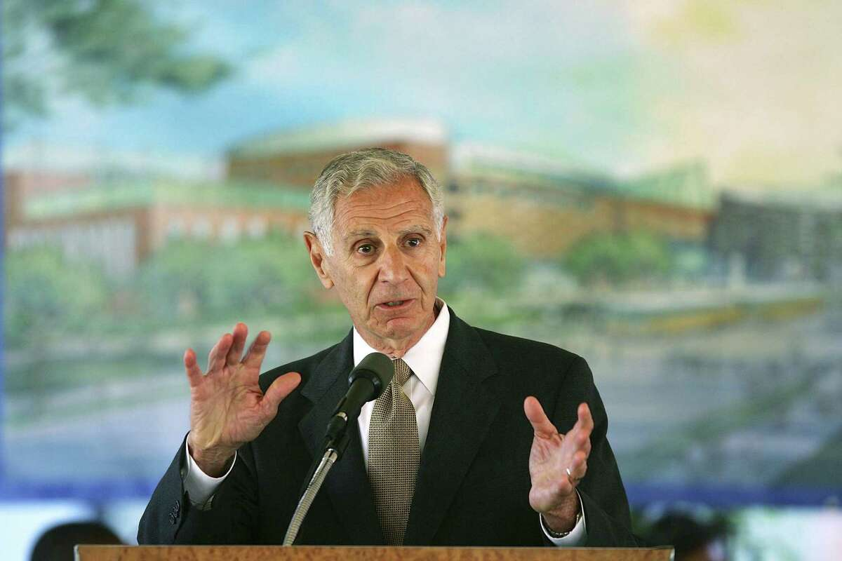 Former California Gov. George Deukmejian speaks during a groundbreaking ceremony for the California Science Center's World of Ecology on Oct. 2, 2006 in Los Angeles.