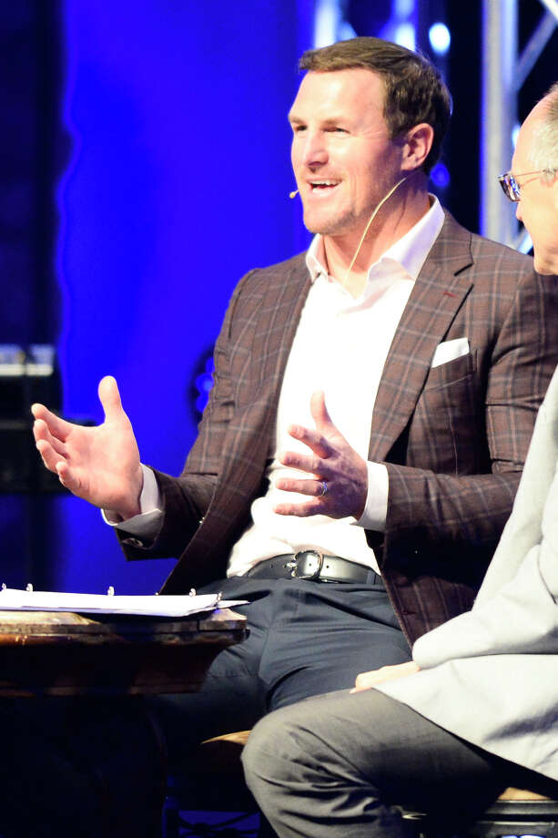 "Former Dallas Cowboys tight end Jason Witten speaks during the ""Winning With Character"" question and answer presentation May 8, 2018, at Mid-Cities Community Church. James Durbin/Reporter-Telegram Photo: James Durbin"