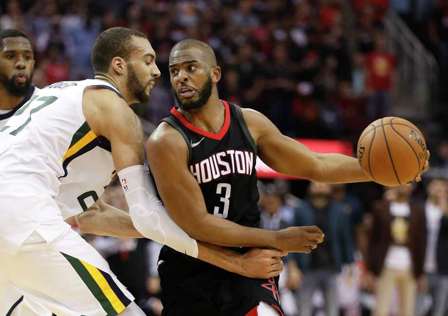 Rockets guard Chris Paul is first player to have 40 points, 10 assists and no turnovers in a playoff game (since NBA kept all those stats). Photo: Brett Coomer,  Staff / Houston Chronicle / © 2018 Houston Chronicle