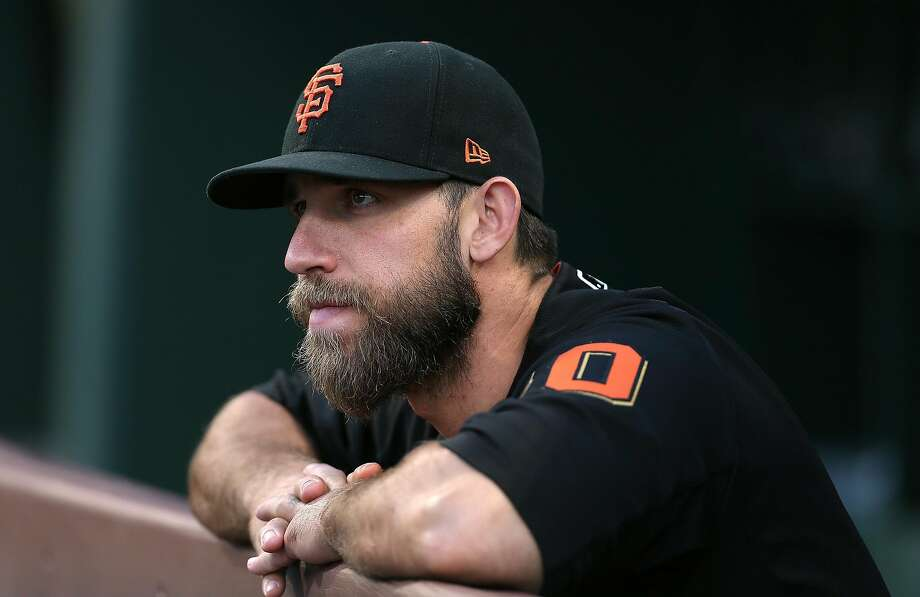 PHILADELPHIA, PA - MAY 08: Madison Bumgarner #40 of the San Francisco Giants watches the action during a game against Philadelphia Phillies at Citizens Bank Park on May 8, 2018 in Philadelphia, Pennsylvania. The Phillies defeated the Giants 4-2. (Photo by Rich Schultz/Getty Images) Photo: Rich Schultz / Getty Images