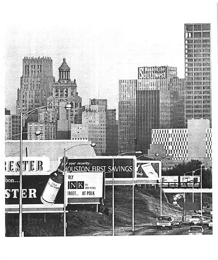Downtown Houston in the 1960s.