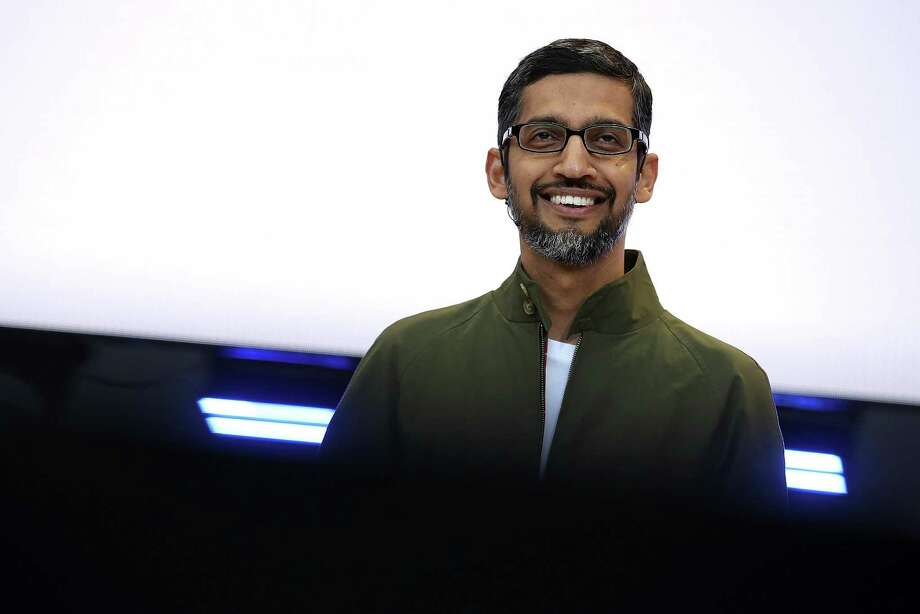 Google CEO Sundar Pichai delivers the keynote address at the Google I/O 2018 Conference at Shoreline Amphitheater on May 8, 2018 in Mountain View, California. He outlined ways Google intends to help consumers contain their digital lives. An Android operating system update this fall will show people how much time they spend on specific apps and allow them to set time limits. Photo: Justin Sullivan /Getty Images / 2018 Getty Images