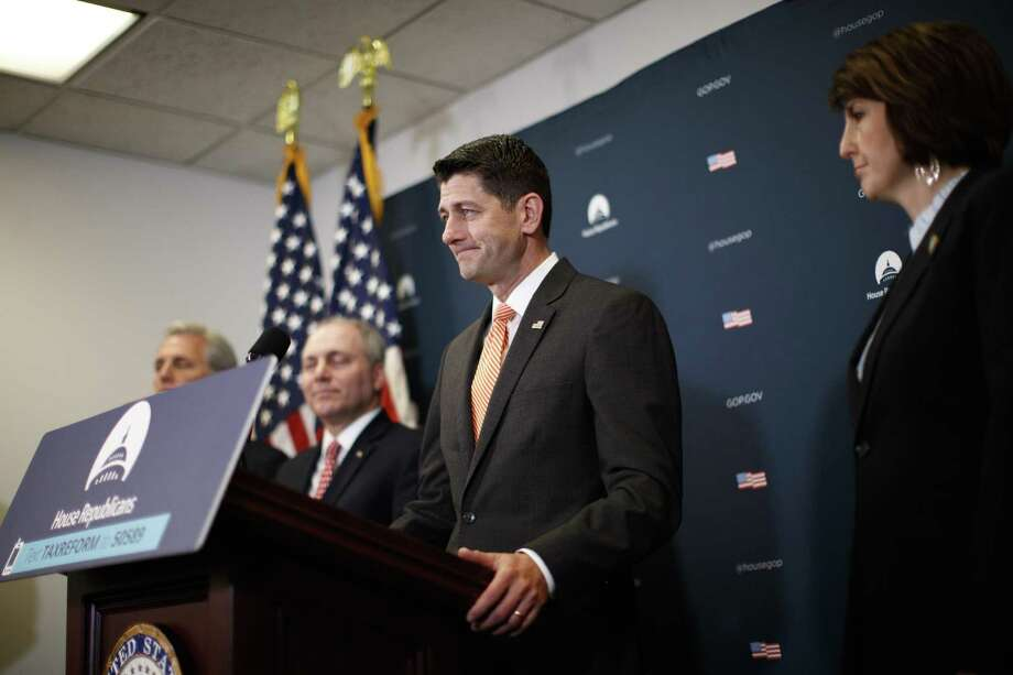House Speaker Paul Ryan (R-Wis.) speaks during a weekly news conference on Capitol Hill in Washington, May 8, 2018. The Republican regulatory rollback took a step forward on Tuesday as the House voted to scrap an Obama-era rule intended to prevent discrimination by auto lenders and as lawmakers inched closer to a bipartisan agreement to alter portions of the 2010 Dodd-Frank Act. Photo: TOM BRENNER /NYT / NYTNS