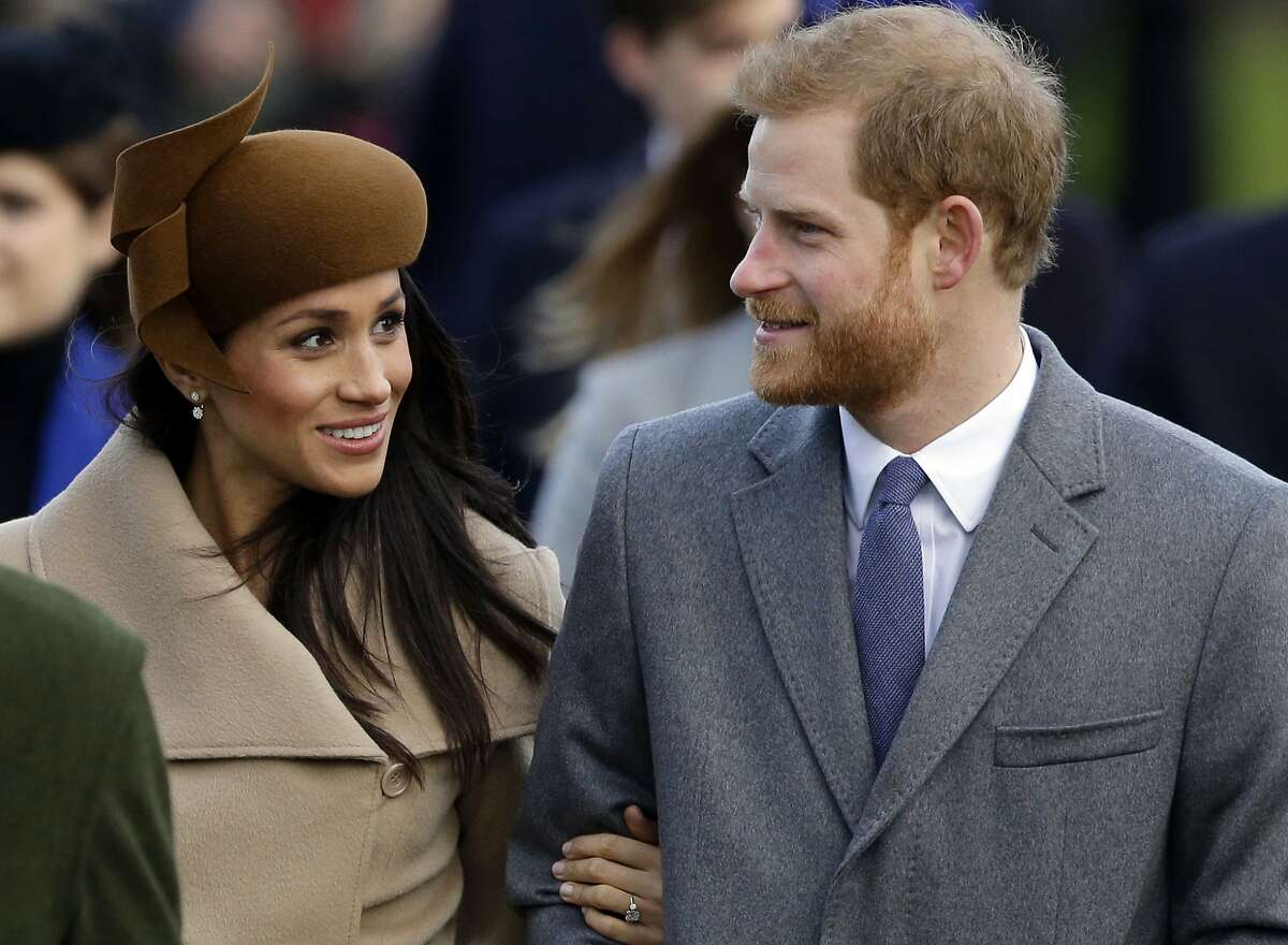 Britain's Prince Harry and his fiancee Meghan Markle arrive to attend the traditional Christmas Day service, at St. Mary Magdalene Church in Sandringham, England. Long dismissed as a party boy, Prince Harry has transformed himself in the public eye and enjoys widespread popularity as he prepares to marry Meghan Markle on May 19, 2018.
