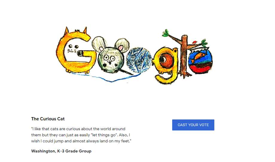 The Evergrey reports that Corinne Manning is the 9-year-old Seattle artist behind this Doodle 4 Google competition state finalist. Click through to see some former Google Doodle winners. Photo: Google Screenshot