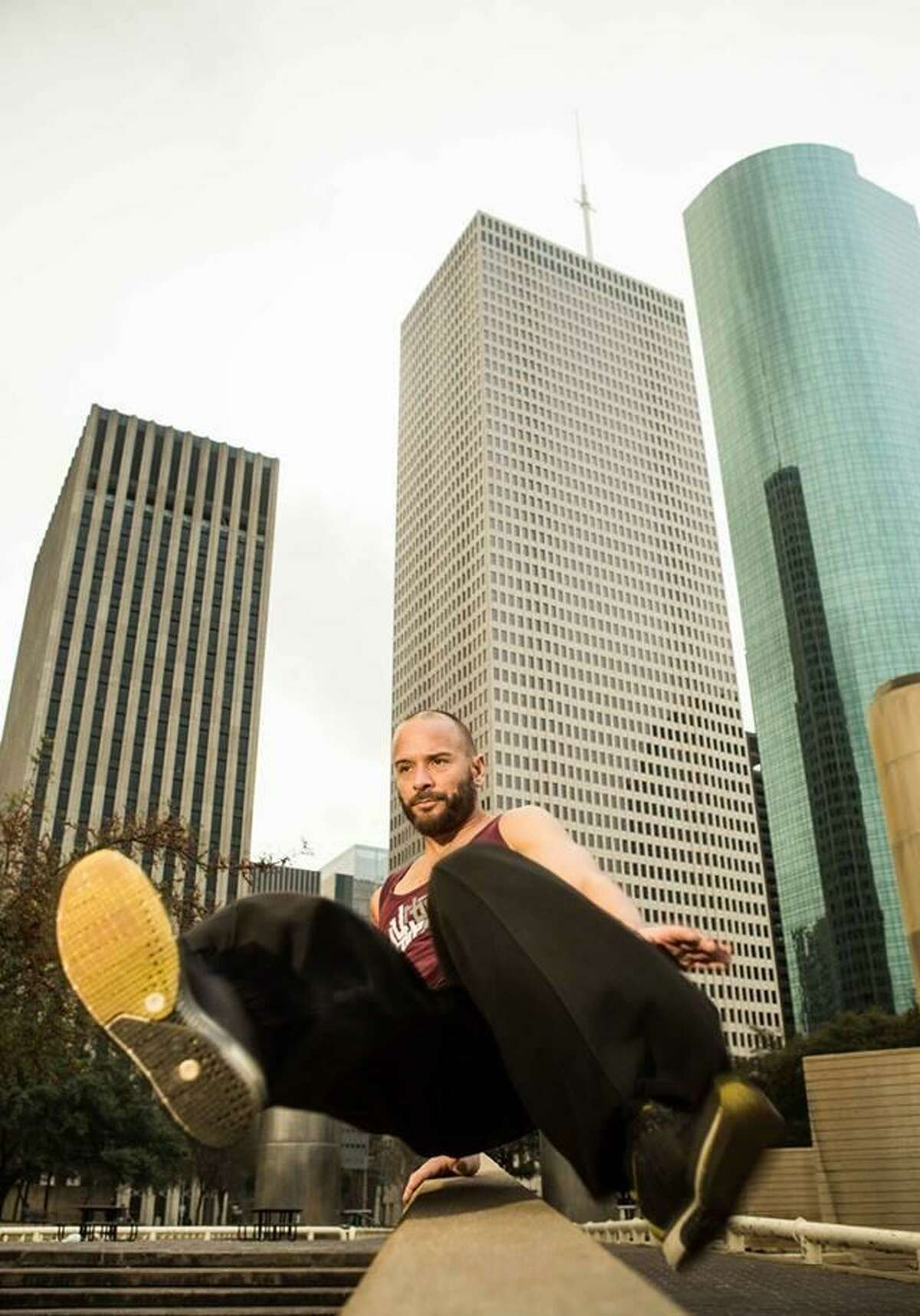 Urban Movement-certified coaches will lead a beginner Parkour class atDiscovery Green on Thursday.