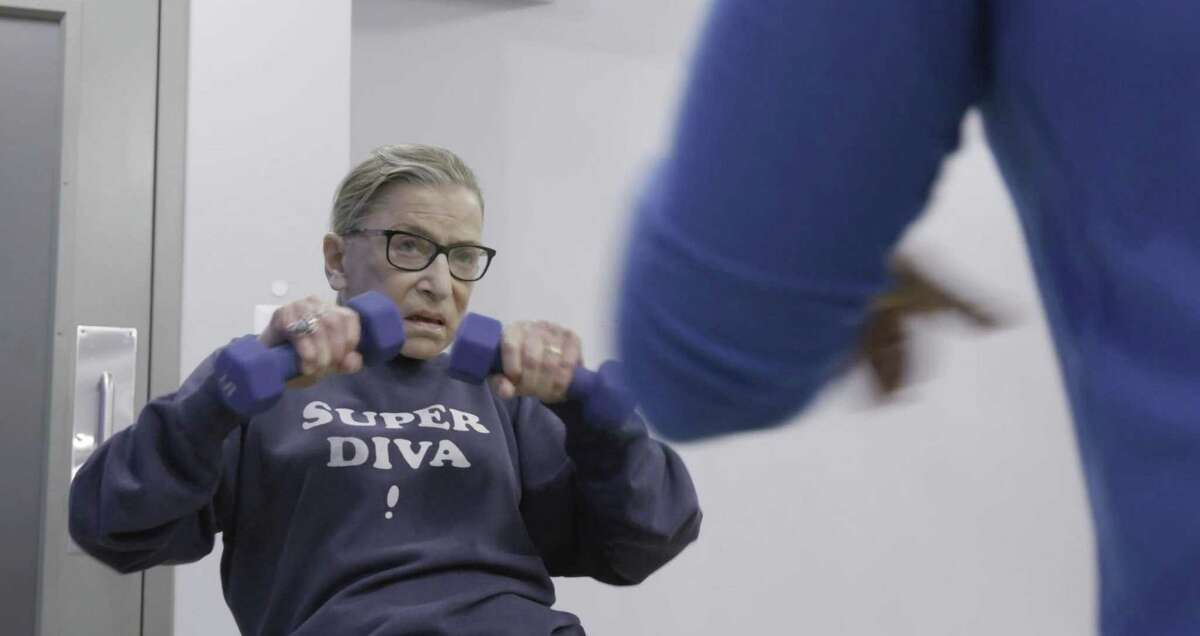 U.S. Supreme Court justice Ruth Bader Ginsberg in a scene from