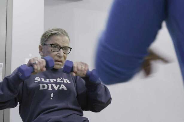 "U.S. Supreme Court justice Ruth Bader Ginsberg in a scene from ""RBG."""
