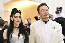 Grimes, left, and Elon Musk attend The Metropolitan Museum of Art's Costume Institute benefit gala celebrating the opening of the Heavenly Bodies: Fashion and the Catholic Imagination exhibition on Monday, May 7, 2018, in New York. (Photo by Charles Sykes/Invision/AP)