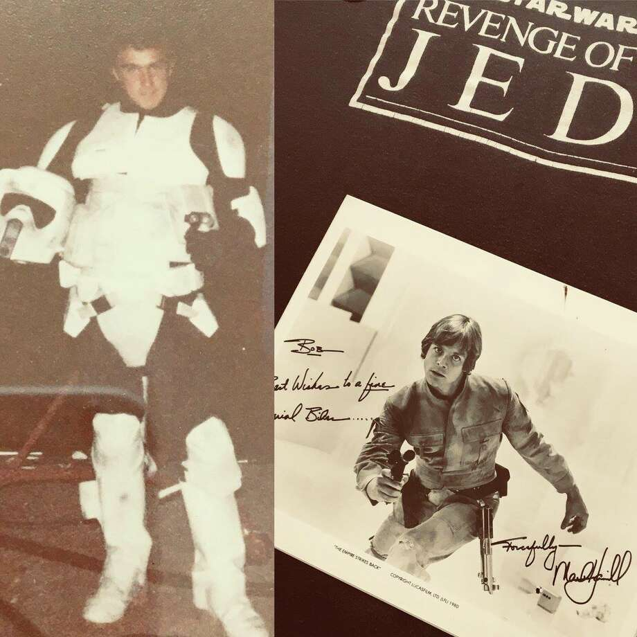 "Robert Jonsen, the Police Chief of Palo Alto, had a role as a stormtrooper in ""Return of the Jedi."" Photo: Facebook"