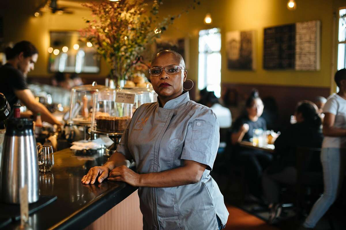 FILE-- Tanya Holland.After more than a decade as a favorite hangout for locals, tourists, rap artists and Golden State Warriors players alike, Tanya Holland's iconic West Oakland soul food spot, Brown Sugar Kitchen, will soon cease to exist in its current form.