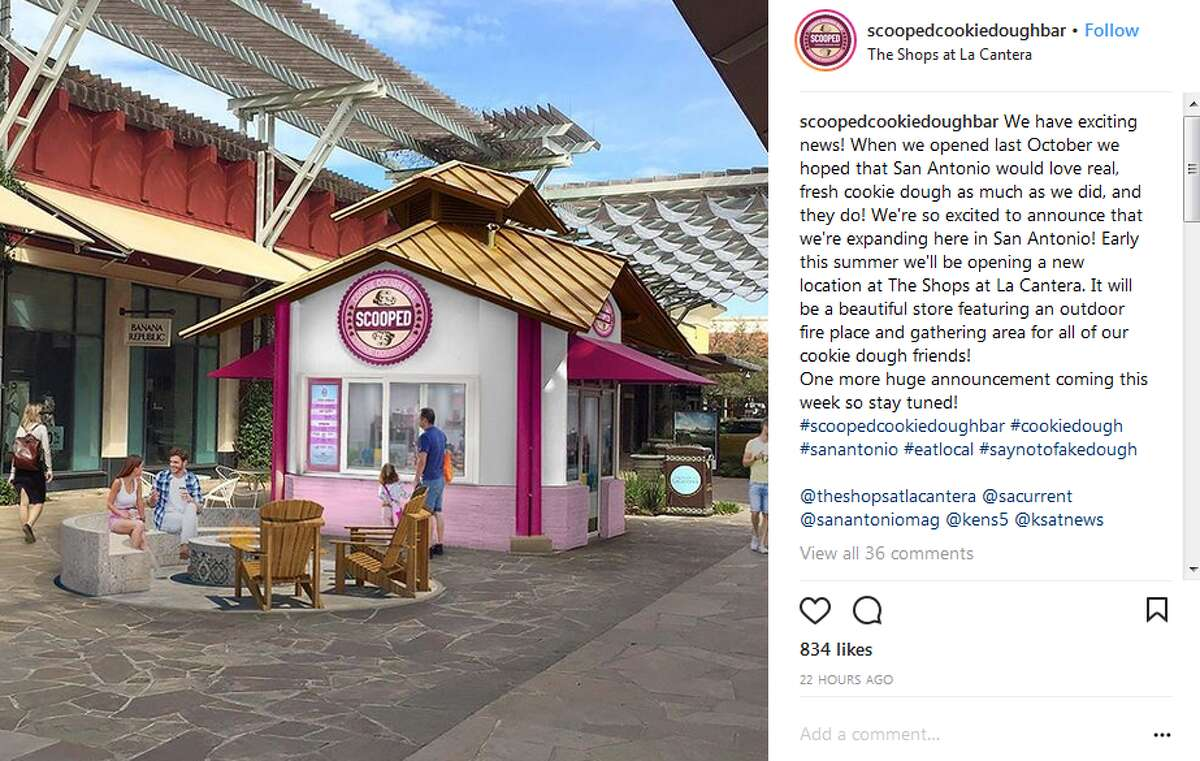 Scooped announced the news of its expansion to The Shops at La Cantera with this Instagram post.