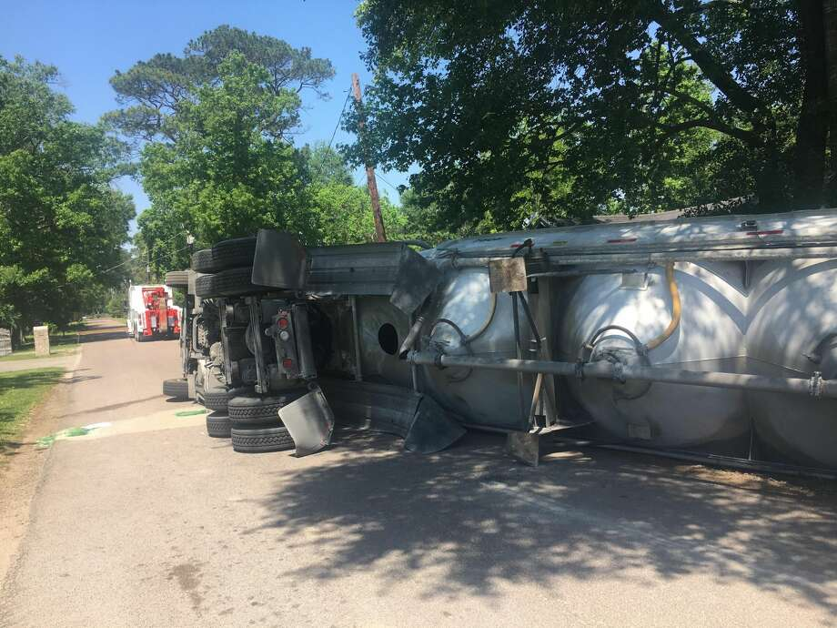 An 18-wheeler driver overturned his tanker Wednesday morning while attempting to make a right turn from Sargent onto Sarver streets.