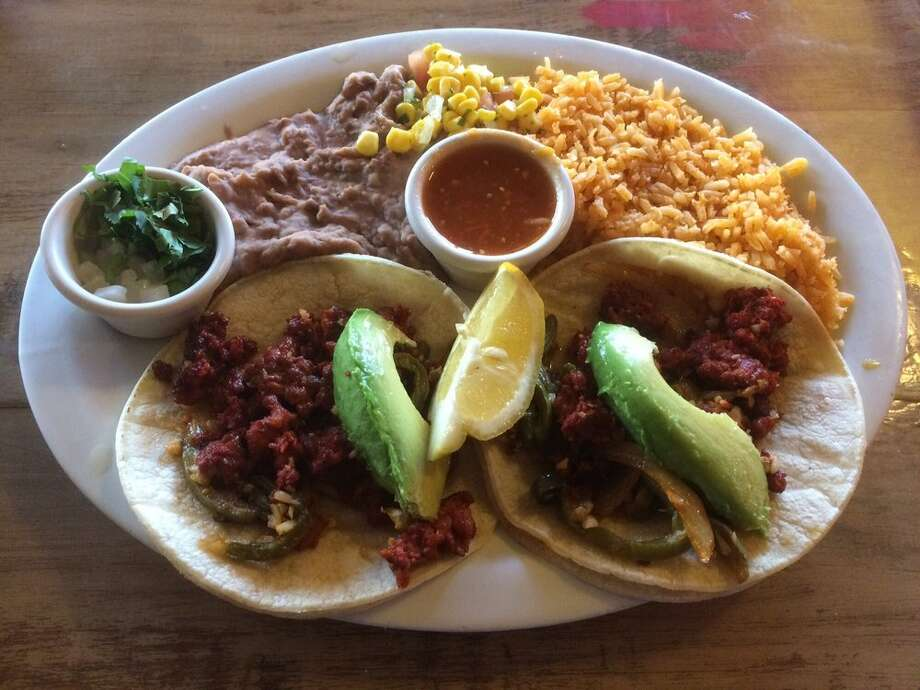 Chorizo and nopales tacos at Nuestro Mexico in Bakersfield, Calif. Photo: Keith H./Yelp
