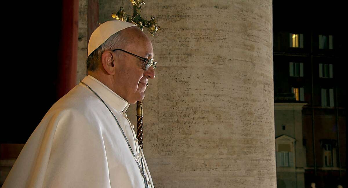 """Pope Francis in """"Pope Francis: A Man of His Word,"""" a documentary by Wim Wenders."""