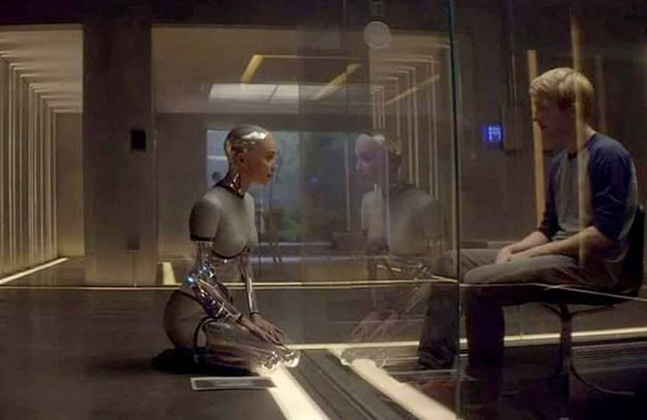 File photo of 2014 movie Ex Machina in which robots are programmed with human like artificial intelligence. Google CEO Sundar Pichai introduced this week Google Duplex, which allows the Assistant to speak with human-like cadence and includes artificial intelligence that is able to comprehend context and unclear answers. Photo: / / Internal