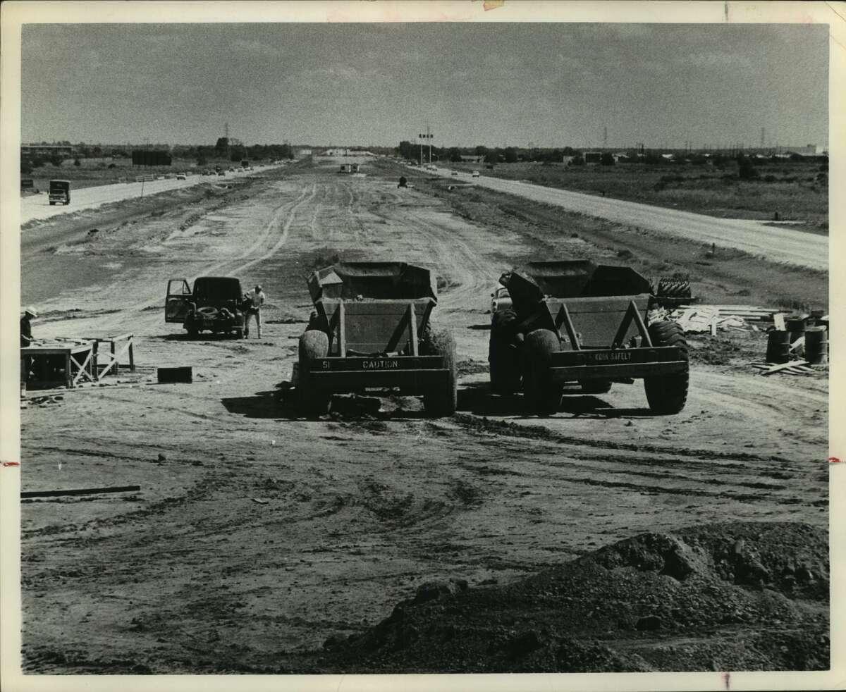 Sept. 6, 1963: Freeway construction near Sharpstown.