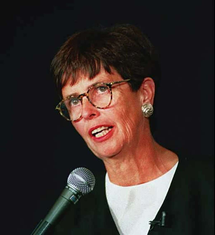 Eunice Goark at a gubernatorial debate in Connecticut on Sept 21, 1994.Tom Ryan/Staff Photo