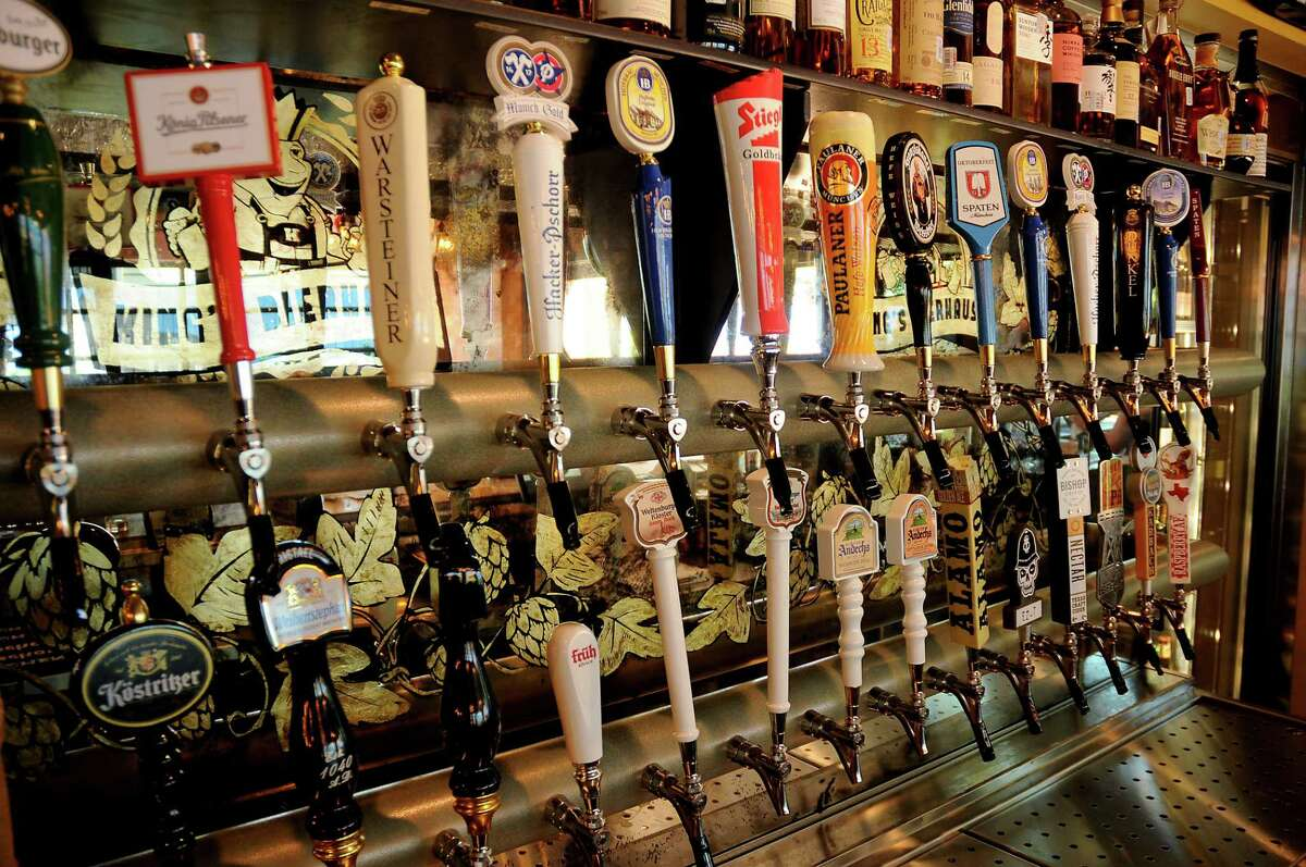 Beer taps at the new King's BierHaus in Houston.