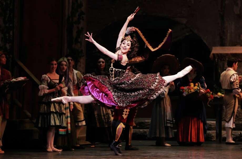 """Jessica Collado in Houston Ballet's """"Don Quixote"""" Photo: Amitava Sarkar / 2017"""
