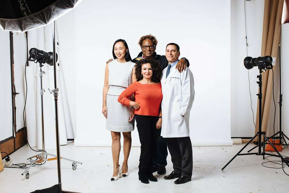 Expert advice: The Chronicle convened an all-star panel of, from left, Dr. Carolyn Chang, Shari Shryock, Ron Pernell and Dr. Seth Matarasso to share the secrets of looking like the best version of yourself. Photo: Mason Trinca / Special To The Chronicle