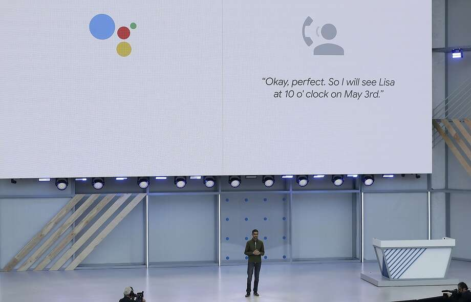 Google CEO Sundar Pichai speaks at the Google I/O conference in Mountain View, Calif., Tuesday, May 8, 2018. (AP Photo/Jeff Chiu) Photo: Jeff Chiu, Associated Press