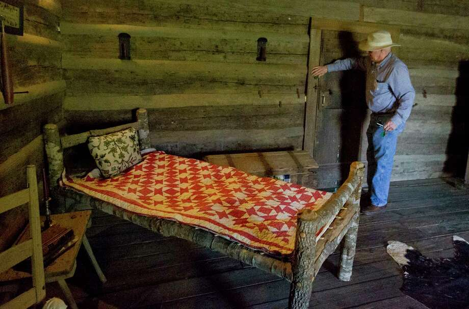 Larry Daspit with the Fernland Historical Park opens up  the James Jordan Log House built in 1830 on Wednesday, May 9, 2018, in Montgomery. The Montgomery County City Council approved a request for the park to be used in a movie during a May 8th meeting. Photo: Jason Fochtman, Staff Photographer / © 2018 Houston Chronicle