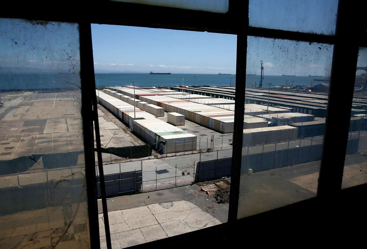The view from building 12 to the bay on Pier 70 in San Francisco, Ca. on Wed. May 9, 2018.City officials in San Francisco are concerned about the vaping company Juul's expansion into city-owned property at Pier 70 - adding to the chorus of regulatory scrutiny and public health worries over Juul's popular and addictive e-cigarettes.