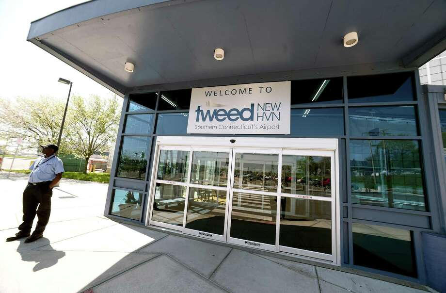 The entrance to Tweed New Haven Regional Airport photographed on May 8, 2018. Photo: Arnold Gold / Hearst Connecticut Media / New Haven Register