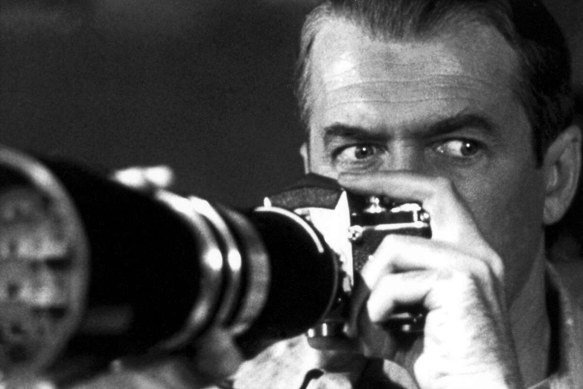 """James Stewart plays a photographer who thinks a murder might have been committed in his Greenwich Village neighborhood in the 1954 Alfred Hitchcock """"Rear Window"""" which is being shown as part of the """"Flicks & Fizz"""" series at Bridgeport's Bijou Theatre on Wed. Aug. 15"""