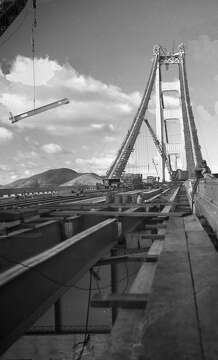 2of 27an image of golden gate bridge construction from a negative dated nov 5 1936photo the chronicle 1936