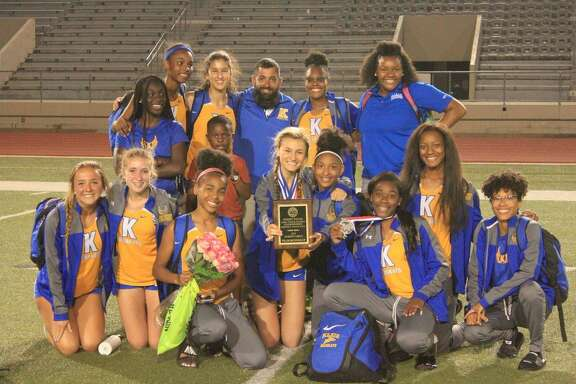 The Klein girls placed second (73 points) at the UIL 6A Area 15/16 track and field meet, April 18-19, at Klein Memorial Stadium.