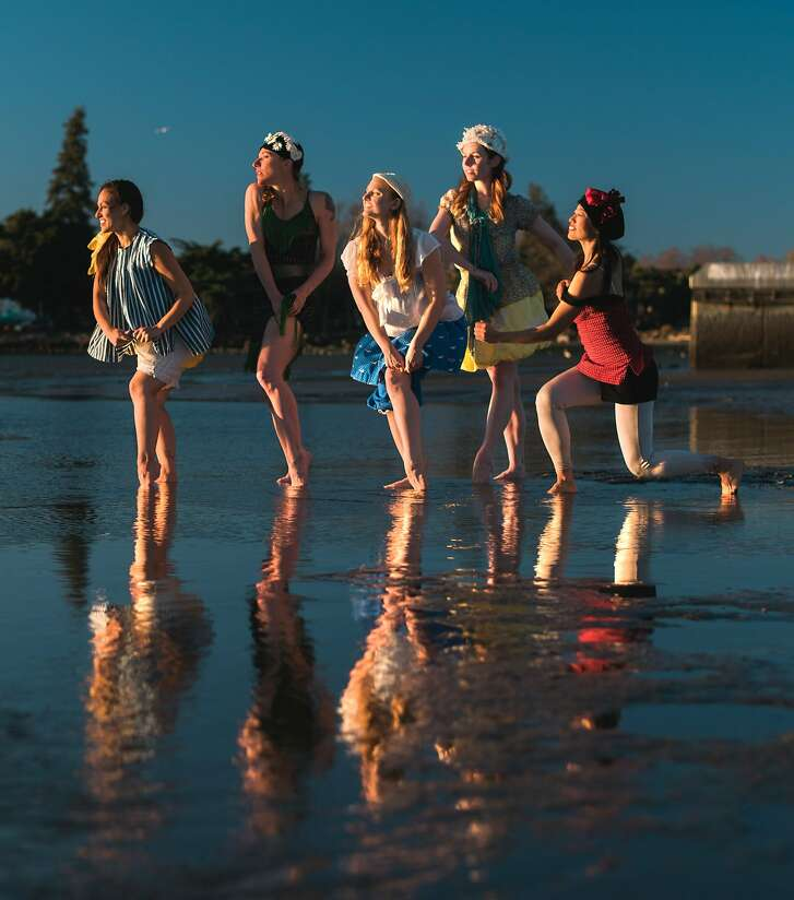 Bathing beauties perform in the second annual Island City Waterways event.    Photo: Maurice Ramirez