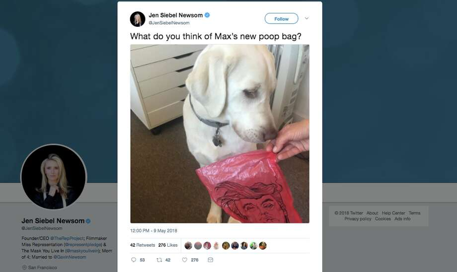Jen Siebel Newsom tweeted a controversial picture Wednesday. Click through the gallery for a primer on Gavin Newsom. Photo: Screenshot Via Twitter
