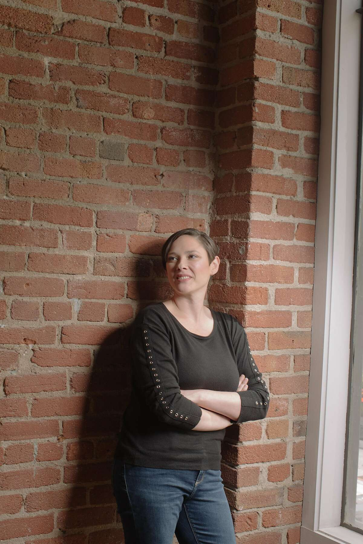 Alison Boden, CEO of Cybernet Entertainment, which runs the online fetish and BDSM site Kink.com, photographed in the Kink.com headquarters in San Francisco, California, on May 9th, 2018.