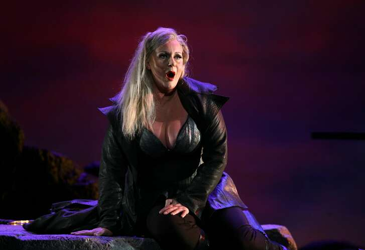 "Soprano Ir�ne Theorin as Br�nnhilde in Wagner's ""Siegfried"" at Washington National Opera in 2009"