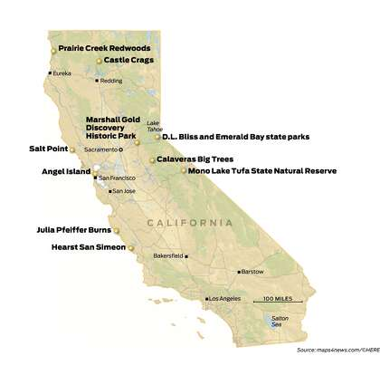 Map Of California State Parks.Top 10 California Parks To See Before You Die Sfchronicle Com