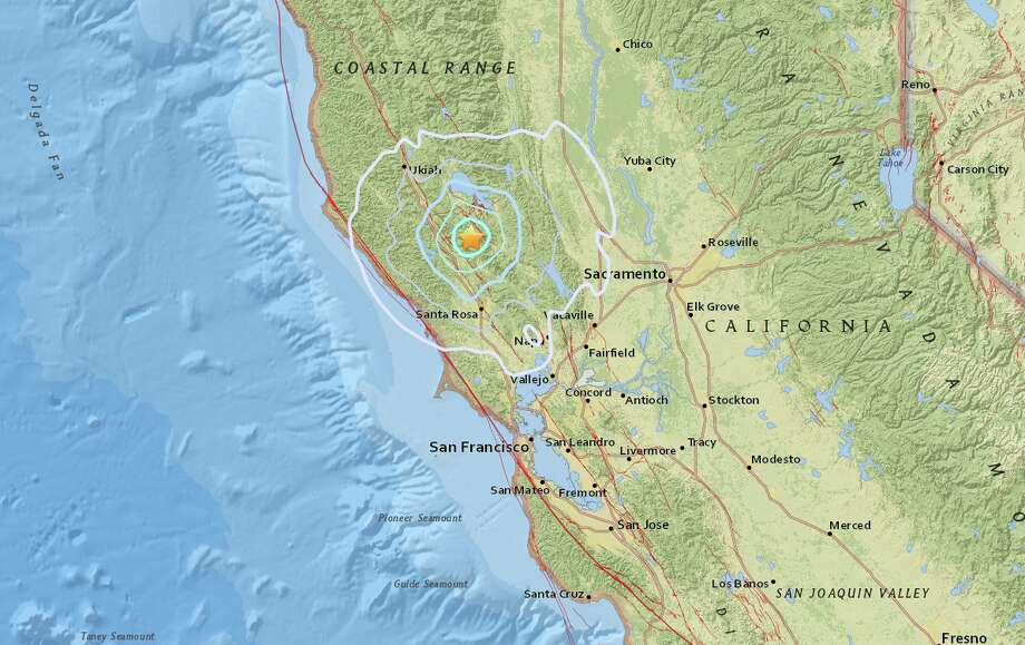 Four earthquakes struck near the Geysers (Lake County) on Wednesday night. Photo: Courtesy USGS