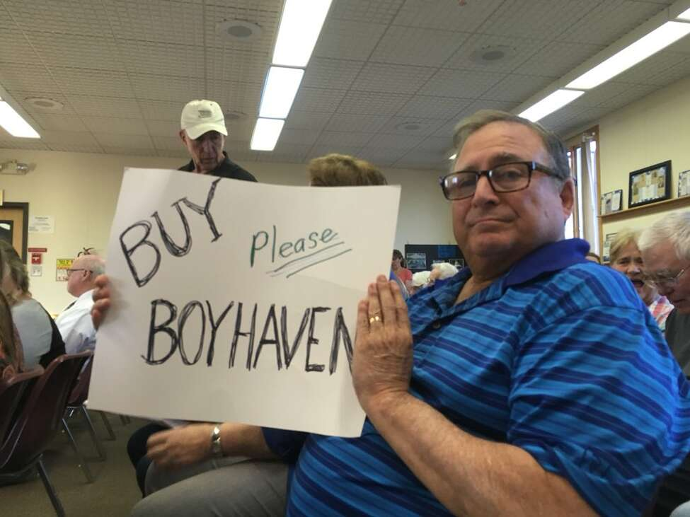 One of those attending one of the many 2018 Milton Town Board meeting asking the town board to honor its agreement to purchase the 300-acre Boyhaven tract from the Twin Rivers Council of the Boy Scouts of America. The town never bought it. (Wendy Liberatore / Times Union)