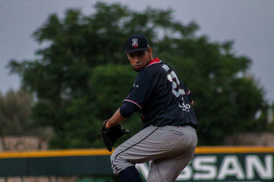 Tecolotes Dos Laredos pitcher Jose Pina couldn't slow Aguascalientes giving up five runs in a 10-1 loss on the road. Pina has had his three worst starts of the year during the last three games. Photo: Courtesy Of The Tecolotes Dos Laredos