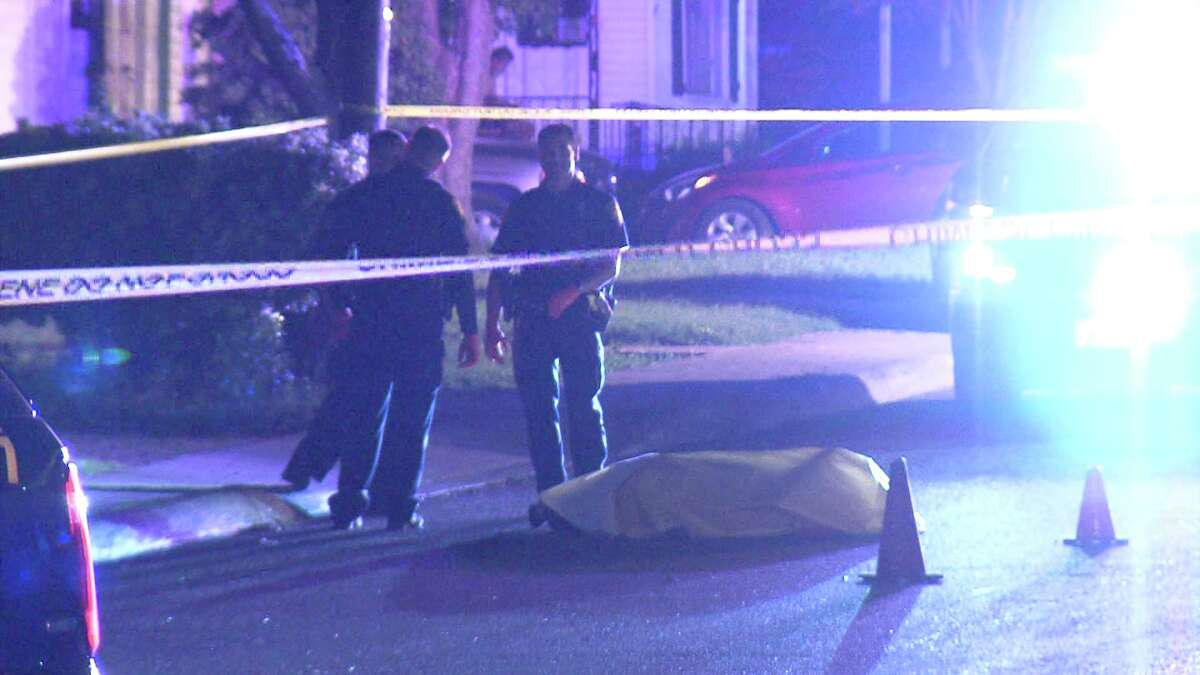 Police first responded to the intersection of North Onslow Street and Canton around 10 p.m., where they found the body of the first victim lying in the street.