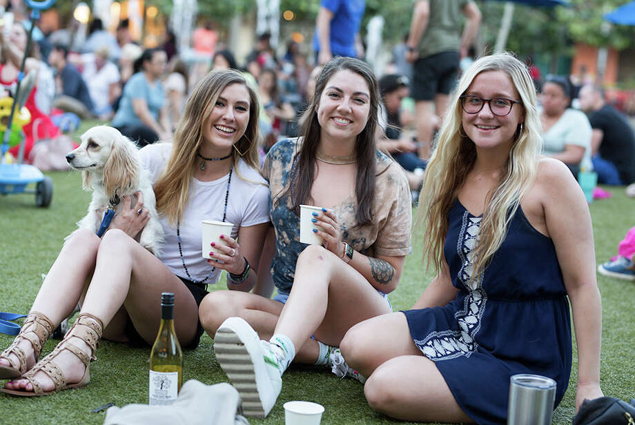 "SoundCream Sunset Sessions brought its ""Humble Vibrations"" open-air dance party to the Pearl on Wednesday, May 9, 2018. DJ Plata set the tone as simple partygoers and their pups enjoyed an evening on the lawn. Photo: B. Kay Richter, For MySA.com"