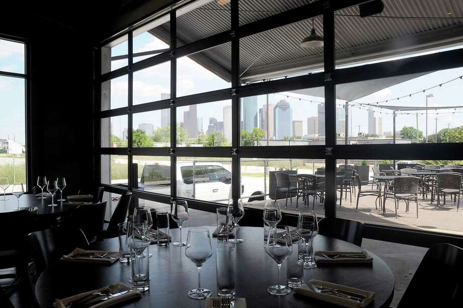 The dining room and patio at Poitin has a great view of downtown. Photo: Dave Rossman, For The Chronicle / 2018 Dave Rossman