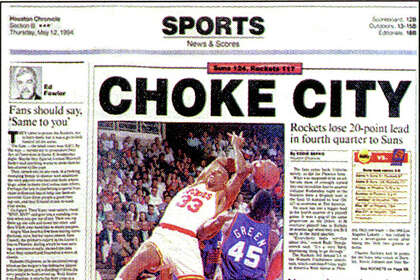 promo code ea4dc cc1cf Choke City': The story behind a memorable Rockets headline ...