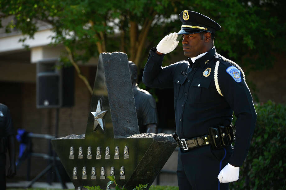 Beaumont Police Department held their annual memorial ceremony for fallen law enforcement officers Thursday, May 10, 2018.