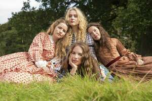 """Little Women,"" a warm nightcap for Mother's Day, stars from back left to right, Willa Fitzgerald as Meg, Kathryn Newton as Amy, Annes Elwy as Beth and screen newcomer Maya Hawke (bottom middle), who grabs our hearts as Jo."