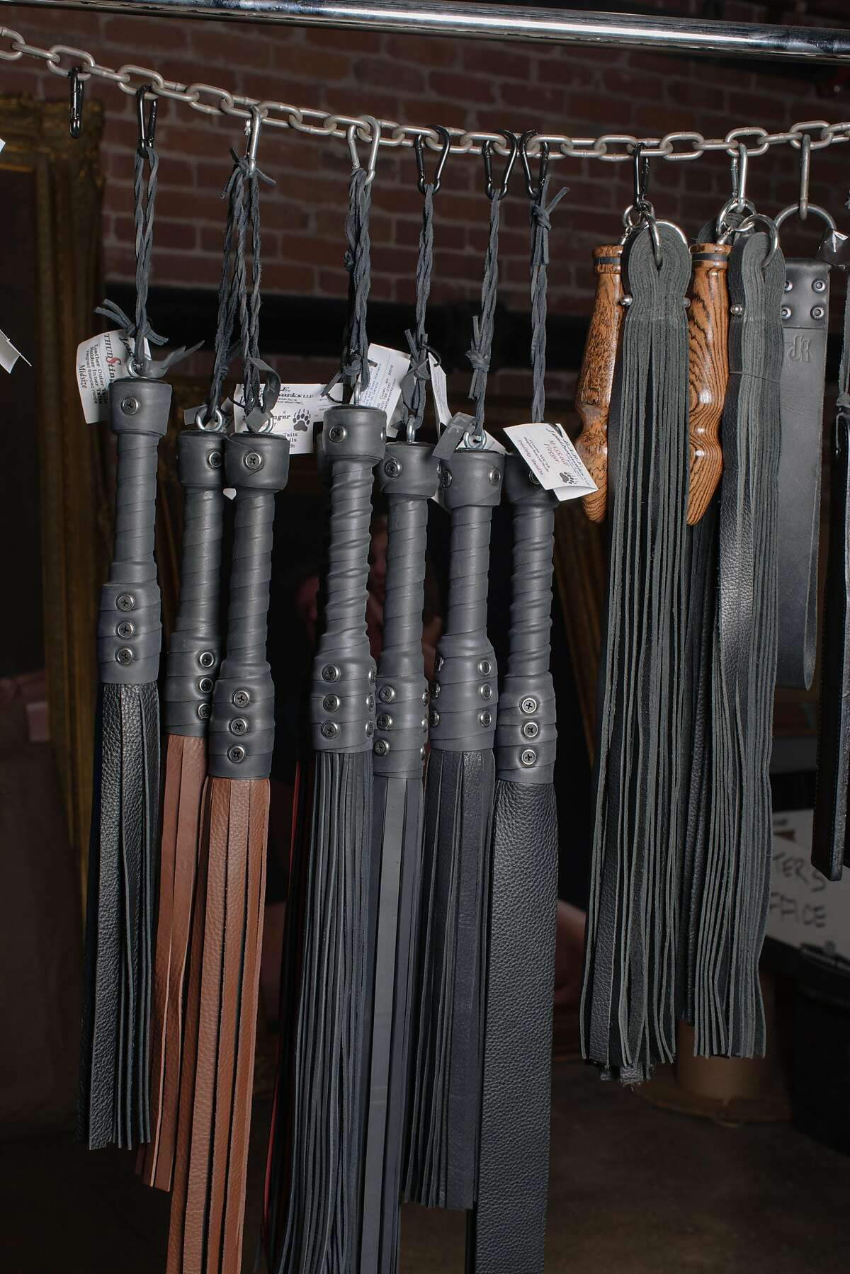 A detail of merchandise in the basement of the new headquarters of Kink.com in San Francisco, California, on May 9th, 2018.