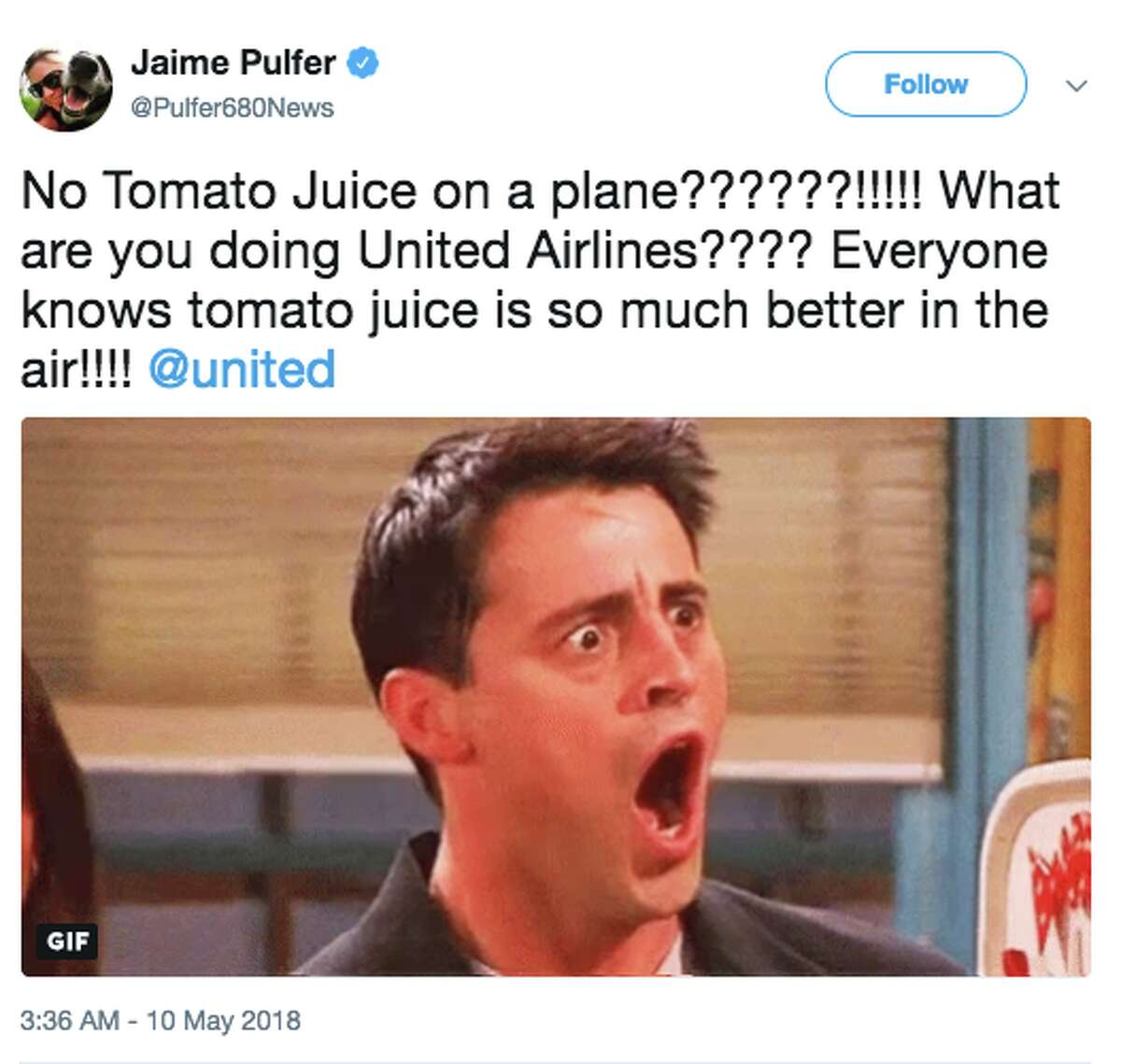 When United Airlines decided to remove tomato juice from its beverage menu on flights under four hours, many took to Twitter to express outrage.