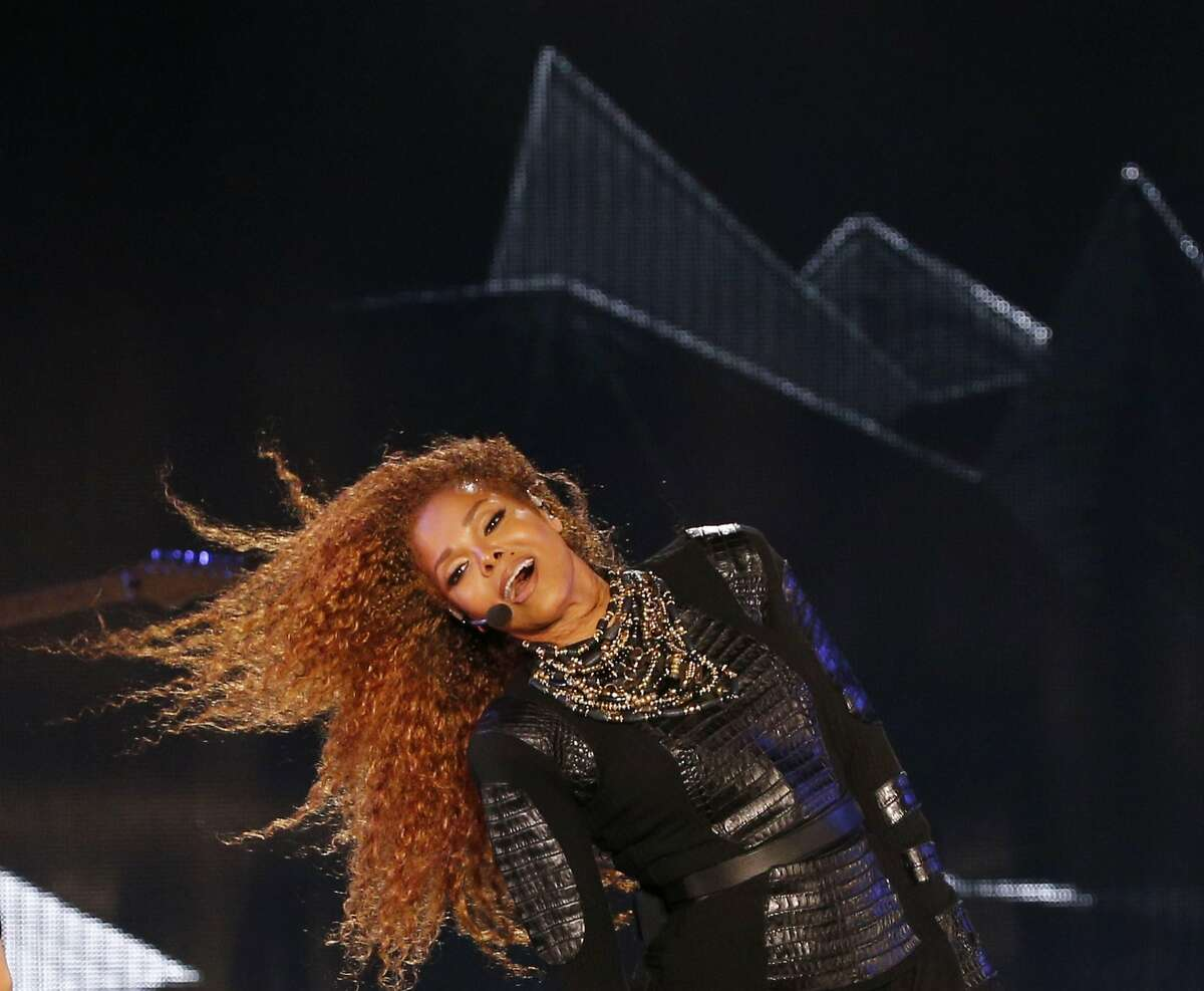 (FILES) In this file photo taken on March 26, 2016, US singer Janet Jackson performs during the Dubai World Cup horse racing event at the Meydan racecourse in the United Arab Emirate of Dubai. The promoters of Coachella on May 6, 2018, canceled the FYF Fest to be headlined by Janet Jackson, an unusually visible sign of trouble in the long vibrant live music industry. Concert promoters Goldenvoice said they were calling off two days of music on July 21 and 22 that would be led by Jackson and rockers Florence and the Machine. / AFP PHOTO / KARIM SAHIBKARIM SAHIB/AFP/Getty Images